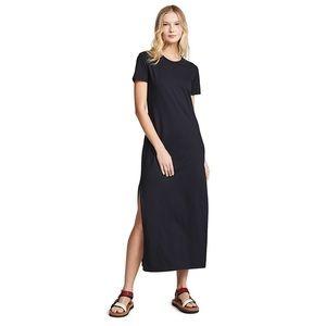 Gilbert Black Relaxed Short Sleeve Maxi Dress
